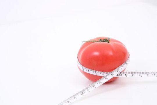 メジャーとトマト